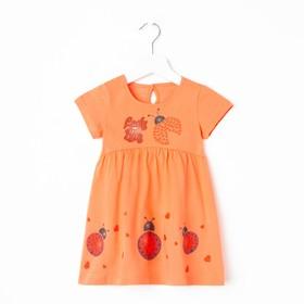 Платье для девочки, цвет оранжевый, рост 80 см (48)