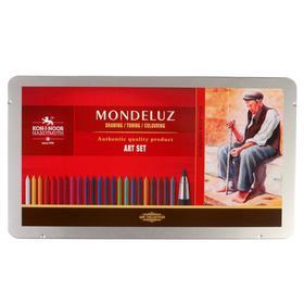 Набор художественный Koh-i-noor Mondeluz, 32 предмета, металлическая коробка