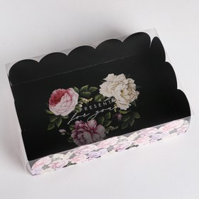 Gift box with PVC cover Present, 20 × 30 × 8 cm