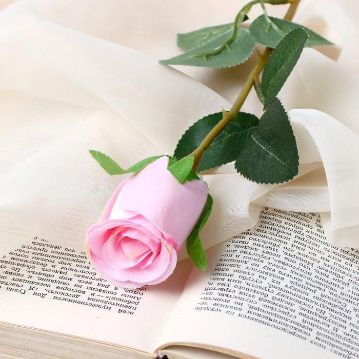 """Цветок искусственный """"Бутончик розы"""" 5х50 см розовый - фото 4456264"""