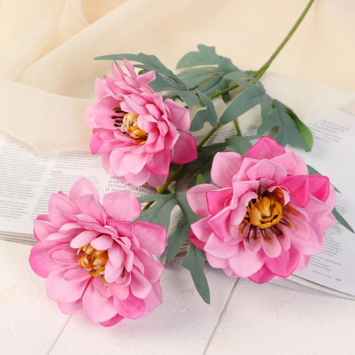 """Цветы искусственные """"Анемоны крупные"""" 11*60 см розовый - фото 4455788"""