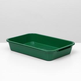 Лоток с сеткой №3, 36 х 26 х 6,5 см, зеленый,