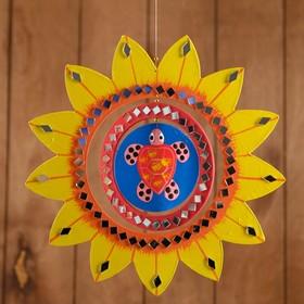 Сувенир подвесной 'Солнышко с черепашкой' МДФ 25х25х0,5 см Ош