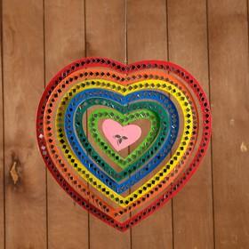 "Сувенир подвесной ""Сердце радужное"" МДФ 33х33х0,5 см"