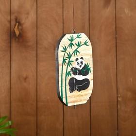Сувенир подвесной 'Панда' дерево 12х13х15 см Ош