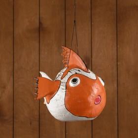Сувенир из кокоса 'Рыбка оранжевая' подвесной 32х25х25 см Ош