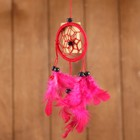 "Dreamcatcher ""Harmony"" red (red feathers) 6х0,5 × 20 cm"