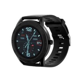 Смарт-часы Smarterra SmartLife THOR, сенсорный дисплей 1.3', 300 мАч, чёрные Ош
