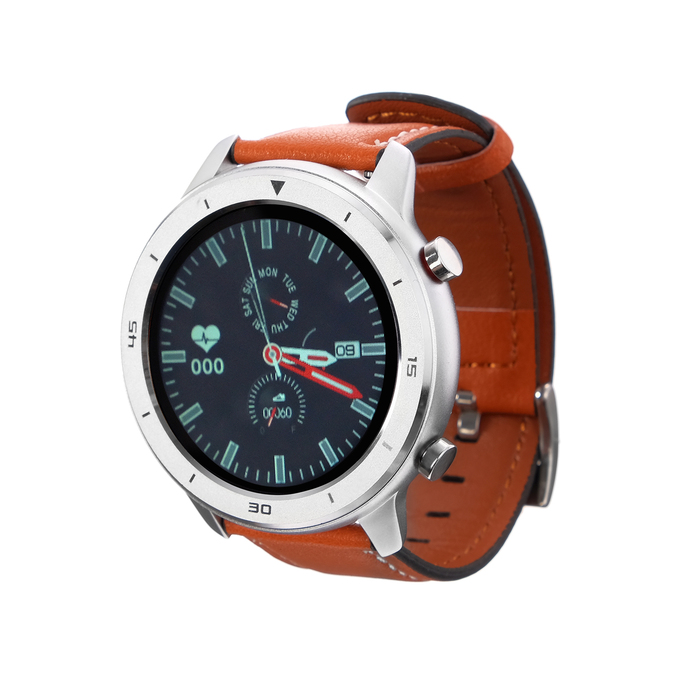 """Смарт-часы Smarterra SmartLife ATLAS, сенсорный дисплей 1.3"""", 230 мАч, серебристые"""
