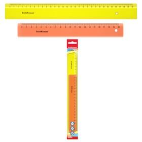 Набор из 2 линеек ErichKrause Neon; 20см и 30 см, желтый и оранжевый, в флоупаке