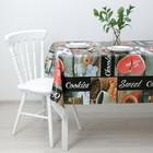 Клеёнка столовая на нетканой основе Доляна «Кофе», ширина 137 см, рулон 20 м - фото 491757