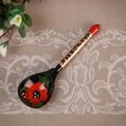 "Souvenir spoon, inscribed ""Alexander"", Khokhloma"