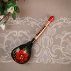 "Souvenir spoon, inscribed ""Alex"", Khokhloma"