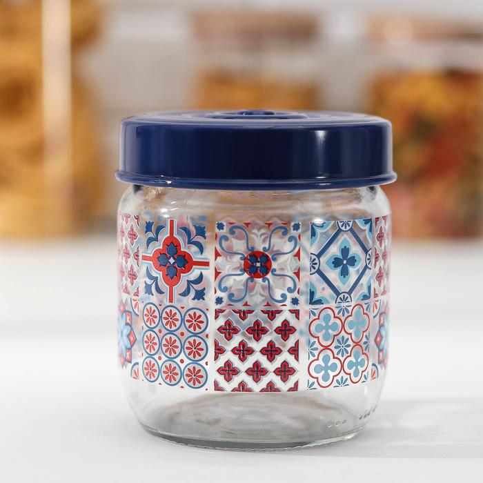 Банка для сыпучих продуктов «Мозаика», 425 мл - фото 491786