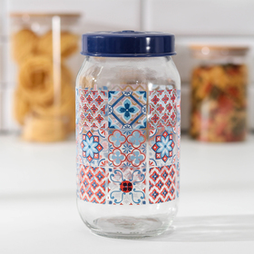 Банка для сыпучих продуктов Herevin «Мозаика», 1 л