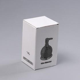 Дозатор для мыла «Практик», 320 мл, нержавеющая сталь - фото 4656309