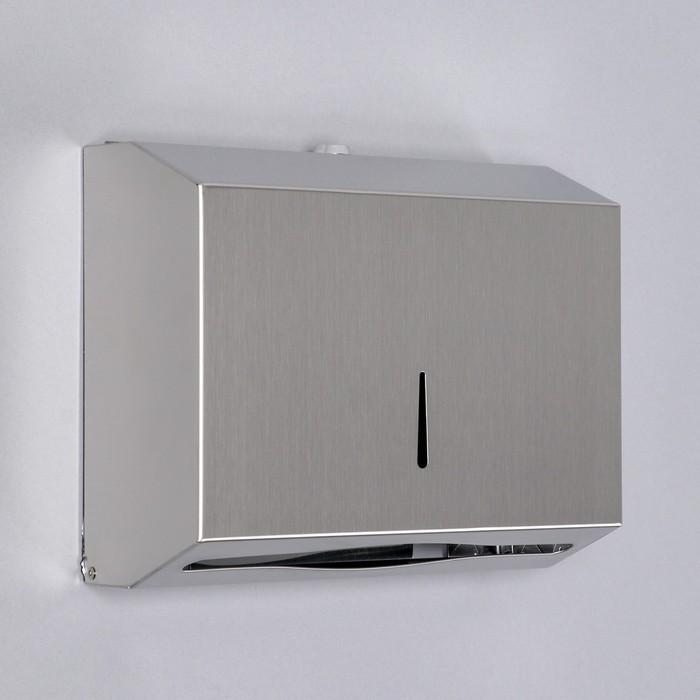 Диспенсер для бумажных полотенец EFOR «Практик», на 200 полотенец, нержавеющая сталь - фото 799278435