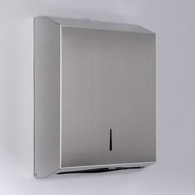 Диспенсер для бумажных полотенец «Практик», на 400 полотенец, нержавеющая сталь - фото 4648651