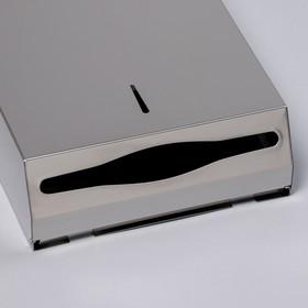 Диспенсер для бумажных полотенец «Практик», на 400 полотенец, нержавеющая сталь - фото 4648653