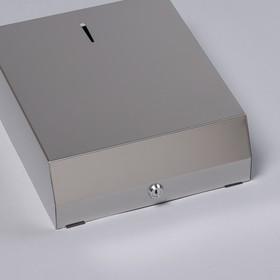Диспенсер для бумажных полотенец «Практик», на 400 полотенец, нержавеющая сталь - фото 4648654