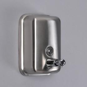 Диспенсер для антисептика/жидкого мыла «Практик», 500 мл, нержавеющая сталь