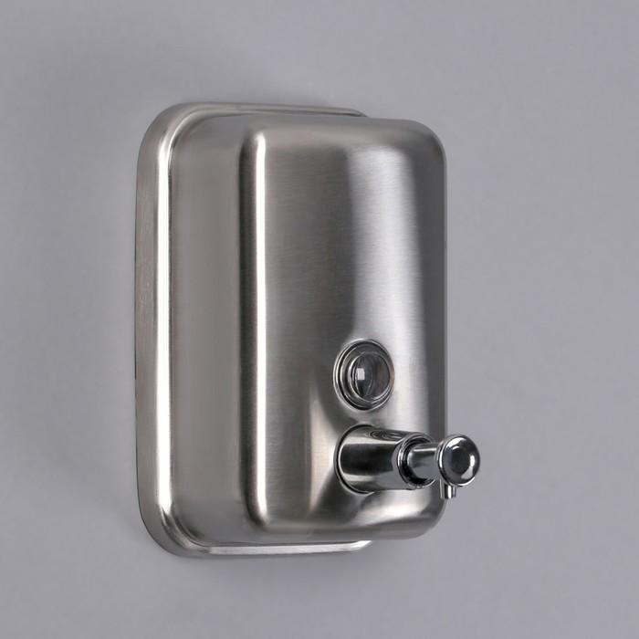 Диспенсер для антисептика/жидкого мыла «Практик», 500 мл, нержавеющая сталь - фото 4656722
