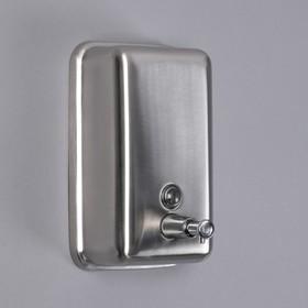 Диспенсер для антисептика/жидкого мыла EFOR «Практик», 1000 мл, нержавеющая сталь