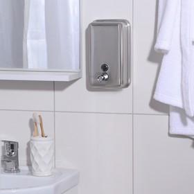 Диспенсер для жидкого мыла «Практик», 1000 мл, нержавеющая сталь