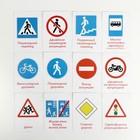 Обучающие карточки по методике Глена Домана «Дорожные знаки», 12 карт, А6, в коробке - фото 1006558