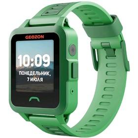 "Смарт-часы GEOZON ACTIVE 1.44"", IPS, IP67, GLONASS, GPS, Android, iOS, зелёные"