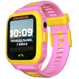 """Смарт-часы GEOZON ACTIVE 1.44"""", IPS, IP67, GLONASS, GPS, Android, iOS, розовые"""