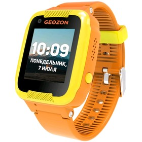 "Смарт-часы GEOZON AIR 1.22"", IPS, IP65, GLONASS, GPS, Wi-Fi, Android, IOS, оранжевые"