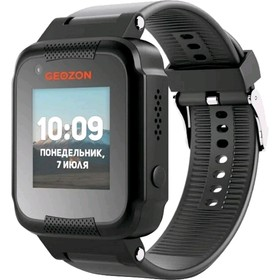 "Смарт-часы GEOZON AIR 1.22"", IPS, IP65, GLONASS, GPS, Wi-Fi, Android, iOS, чёрные"