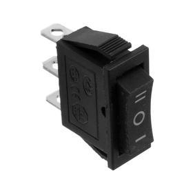 Клавишный выключатель, 250 В, 15 А, ON-OFF-ON, 3с, черный, розничная упаковка. Ош