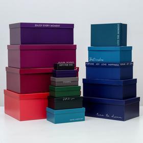 Набор коробок подарочных 15 в 1 «Тренд», 12 х 7 х 4 см - 46,6 х 35,2 х 17.5 см