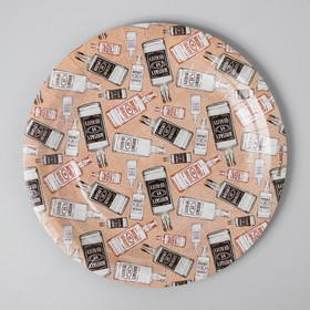 """A plate of Kraft """"Whiskey"""" single layer, 18 cm"""