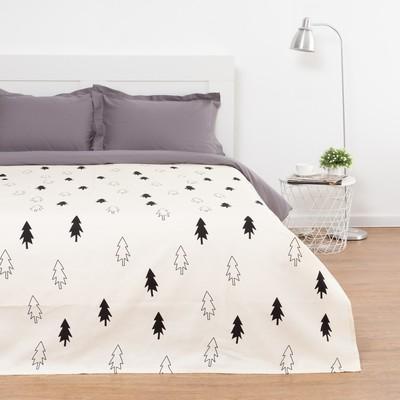 """Veil """"Ethel"""" Winter forest, 200*215 cm, 100% cotton"""