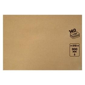 Крафт-бумага, 210 х 120 мм, 140 г/м², коричневая Ош