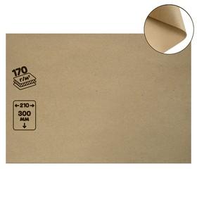 Крафт-бумага, 210 х 120 мм, 170 г/м², коричневая Ош
