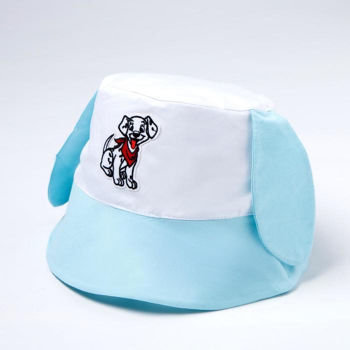 Панама для девочки, цвет голубой, размер 49-52