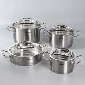 Набор посуды Pro line, 4 предмета: кастрюля 2 л / 4 л / 6,3 л; жаровня 3,1 л