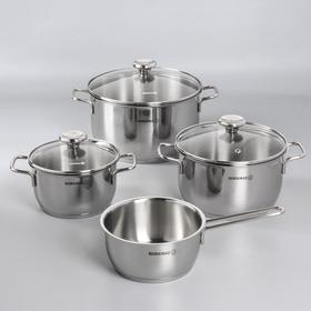 Набор посуды Korkmaz Aroma, 4 предмета: кастрюля 2/3,7/6,3 л, сотейник 1,5 л