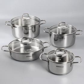 Набор посуды Perla, 4 предмета: кастрюля 1,8 л, 3,5 л, 5,5 л; жаровня, 3 л