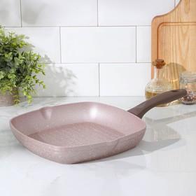 Сковорода-гриль Wilma cappuccino granite, d=28 см