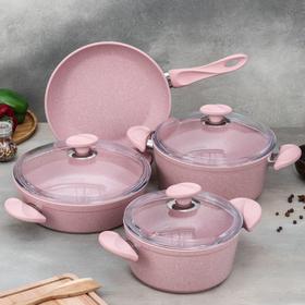 Набор посуды Wilma, 4 предмета: кастрюля 2,4 л / 4,2 л, сотейник 3 л (d=26 см), сковорода d=26 см