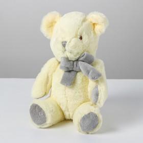Мягкая игрушка «Медведь с бантом», цвет белый