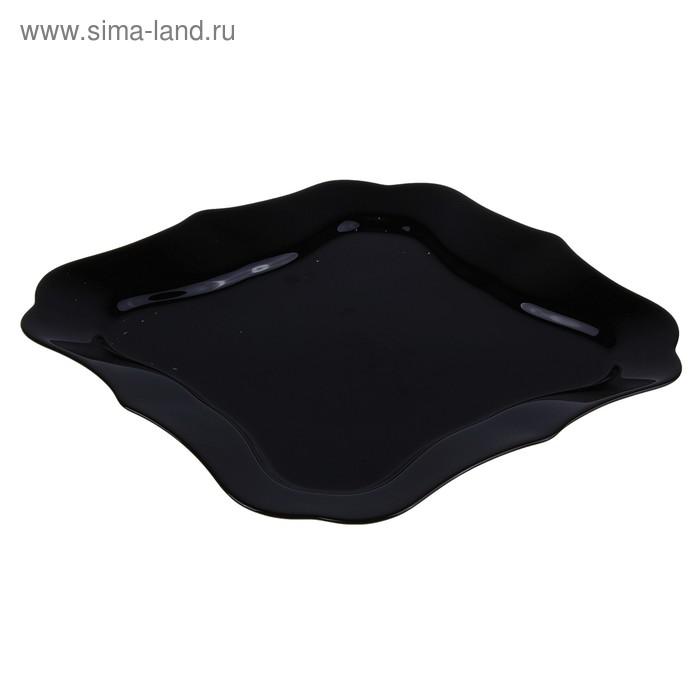 """Тарелка обеденная 25,5 см """"Аутентик"""", цвет черный"""