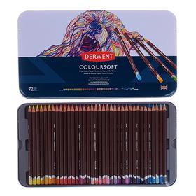 Карандаши цветные Derwent Coloursoft 72цв. мет.кор D-0701029