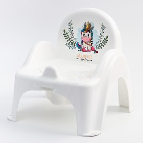 """Горшок-стульчик -""""ДИКИЙ ЗАПАД - ЕДИНОРОГ"""", цвет белый/розовый"""