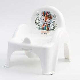 """Горшок-стульчик  """"ДИКИЙ ЗАПАД - ЛИСЕНОК"""", цвет белый/зеленый"""